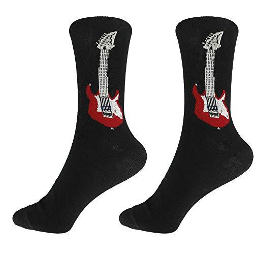 mugesh Musik-Socken E-Gitarre (43/45) - Schönes Geschenk für Musiker