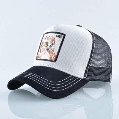 Gorras de algodón Unisex para Hombres Gorra de béisbol Gorras de Camionero de Malla Transpirable para Mujer-Owl We