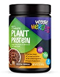Veggie Heroes Kid's Complete Plant Protein Powder - Organic Protein Sources, Superfood Nutritional Shake for Children, Vegan, Gluten Free, No Added Sugar, Perfect for Picky Eaters,(Cocoa Cereal)