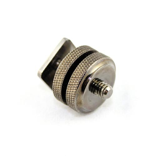 Kaavie Pro Version Heavy Duty Dual Nuts Cold Shoe Mount Adapter with 1//4 Screw