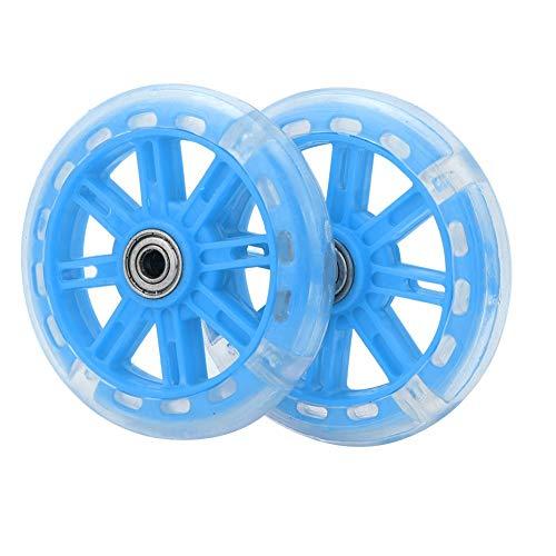 Alomejor Kinderfahrrad Stützräder LED Leuchten Fahrradstabilisatoren Stützräder Ersatz für 12-20 Zoll Kinderfahrrad(Blau) - 6