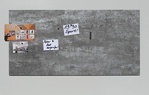 Vinyl-Magnet-Pinnwand in Edelstahl - / Stahl-Optik (geätzt), Pinboard in Stahl-Grau, Magnettafel, magnetisch; inkl. 10 Neodymmagnete