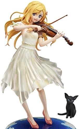 CVB Anime Figure Your Lie in April Miyazono Kaori muñeca Modelo Decoración PVC Estatua Papel de colección Juguetes en Caja Regalo 20cm