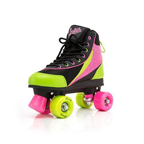 Luscious Skates Retro Disco Rollschuhe Kinder Delish Gr.38 (grün pink schwarz)