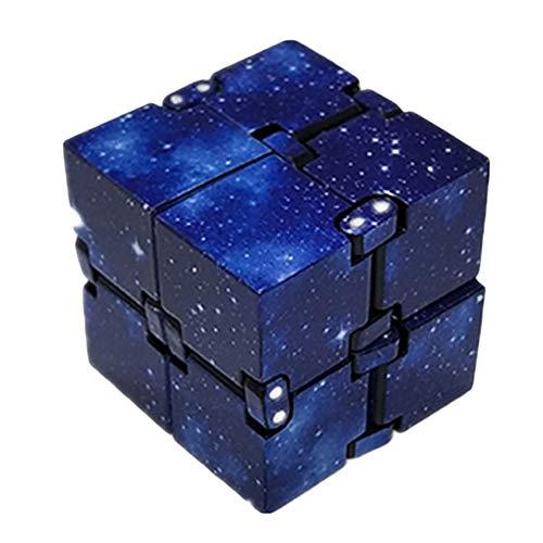 Mini ABS infinito Cube para alivio de tensión de la persona agitada, Galaxy infinito Cube Fidget juguete Anti Stress Ansiedad para Niños Adultos EDC juguete