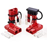 Orion Motor Tech Wire Connector 4 Pack, 175A Wire Harness Plug Kit for 2 to 4 Gauge Cables, 12V to 36V Battery Quick Connect Disconnect Set for Car Bike ATV Winches Lifts Motors More, Set of 4, Red
