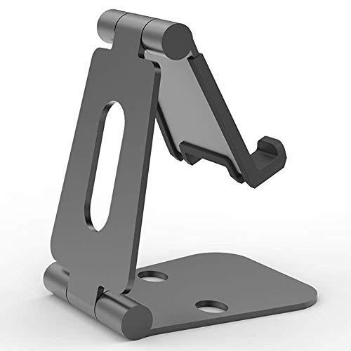 Soporte de tableta ajustable Aleación de aluminio de escritorio perezoso Fácil de transportar Tablet PC Teléfono Soporte plegable Compatible con varias tabletas (color: oro rosa, tamaño: un tamaño) ZD
