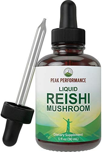 Liquid Reishi Mushroom Extract Made with Organic Reishi Vegan Mushrooms Tincture Supplement product image