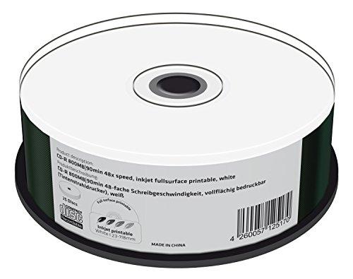 MediaRange MR242 CD-R 800MB (90min. 48x Speed, bedruckbar, 25 Stück)