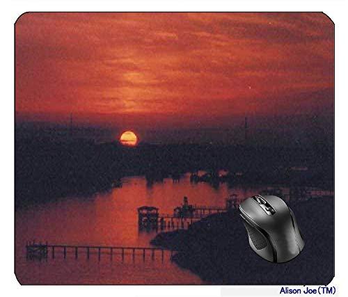 N\A Puesta de Sol sobre Wapoo Cut Mousepad Gaming Mouse Pad
