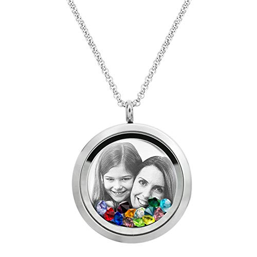 Queenberry Engraved Floating Locket