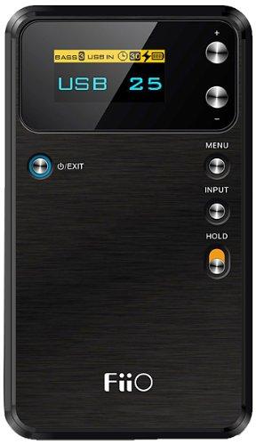 FiiO Alpen E17 USB DAC tragbarer Kopfhörer Verstärker (3.5 mm Stereo Jack, Schwarz)