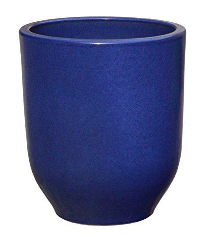 Hentschke Keramik Pflanztopf/Pflanzkübel frostsicher Ø 50 x 55 cm, Effekt blau, 330.055.64 Blumenkübel für Draußen + Innen - Made in Germany