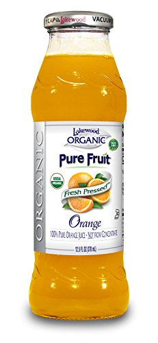 Lakewood Organic PURE Orange, Fresh Pressed, (12.5 Fl Oz (Pack of 12))
