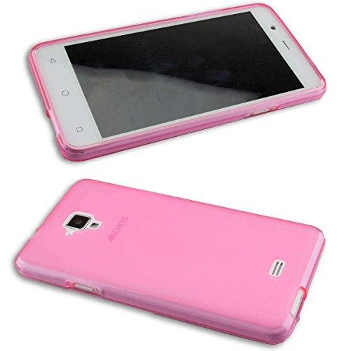caseroxx TPU-Hülle für Archos 50 Titanium 4G, Handy Hülle Tasche (TPU-Hülle in pink)