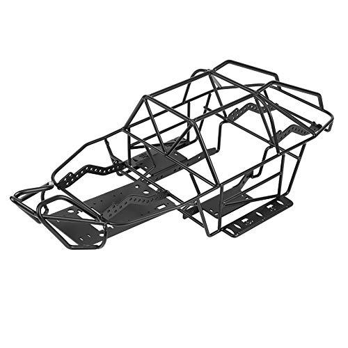 Dilwe RC Roll Cage, Black Metal Chassis Frame for Axial SCX10II AX90046 1/10 Scale RC Car
