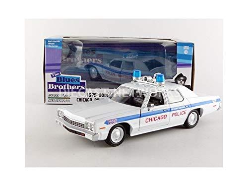 Greenlight Collectibles–84012–Dodge Monaco–Blues Brothers Chicago Polizei 1980–Maßstab 1/24–Weiß/Blau