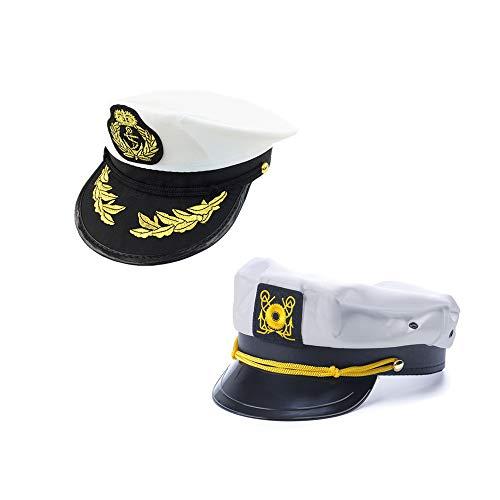 Uniforme Marineros Boina Militares De La Marina Gorra Blanca Barco Capit/án Sombrero Marina Cap Escenario De Funcionamiento Hat para Hombres De Las Mujeres