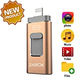 JIAHCN USB Flash Drive for iPhone 256GB iFlash USB Drive for iPhone The Photo...