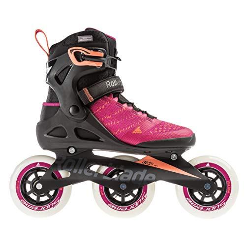 Rollerblade Damen MACROBLADE 110 3WD W Inline-Skate, Raspberry/Mango, 260