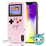 Autbye Gameboy Case for iPhone, Retro 3D Phone Case Game Console with 36 Classic Game, Color Display Shockproof Video Game Phone Case for iPhone 6P/6SP/7P/8P (Pink)