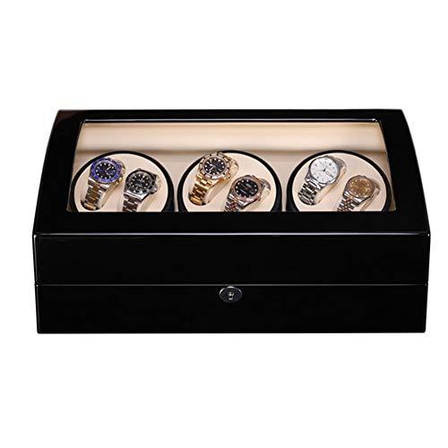 Zyy Cajas Giratorias para Relojes Automatico, Grande Vitrina con Motor Japonés, 6+7 Madera Bobinadora para Relojes (Color : B)