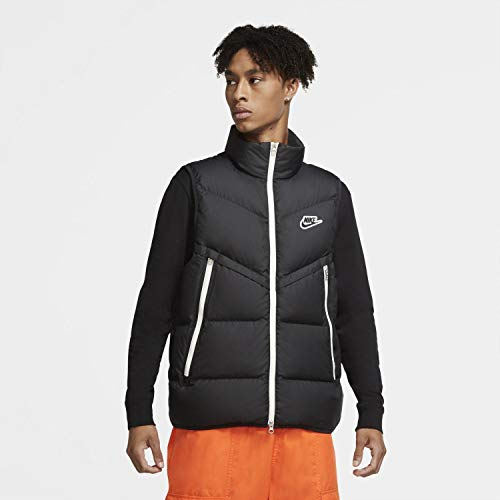 Nike Herren Dwn Fil Wr Shld Weste, Black/Black/Sail/Black, XL
