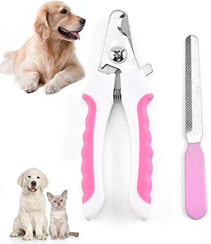 Pet Nail Clipper Set Professional Pet Nail Trimmer with Safety Guard to...