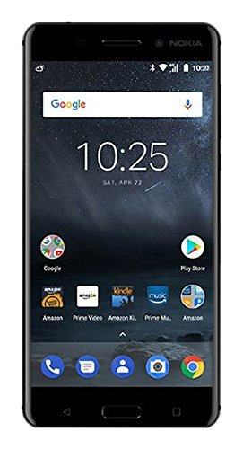 """Nokia 6 (2017) - Prime Exclusive - 32 GB - Unlocked Smartphone (AT&T/T-Mobile) - 5.5"""" Screen - Black"""