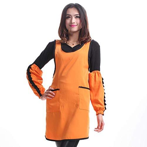 YLCJ Thuis Koffie Winkel Tool Vest Haar Gekleurde Beautician Jumpsuit Eenvoudig (Kleur: Oranje)