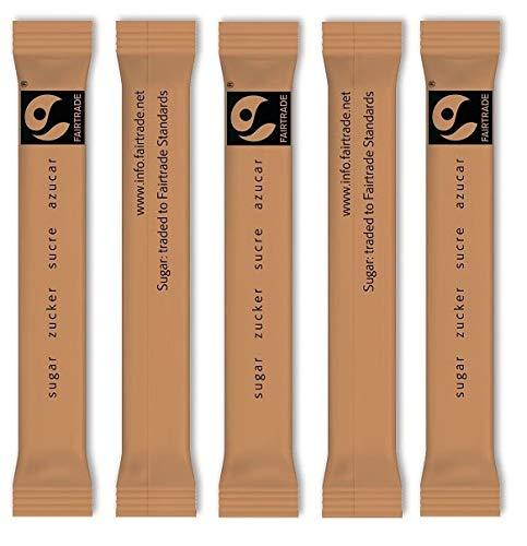 Zuckersticks FAIRTRADE 1000 Sticks befüllt mit 3,5g braunem ROHRZUCKER