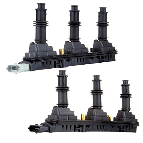 ECCPP Ignition Spark Coil Packs Left and Right for Cadillac Saturn V6 Compatible with C1415 UF-278(Pack of 2)