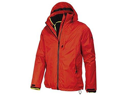 Crivit - Chaqueta para hombre (talla 48/50), color rojo y negro