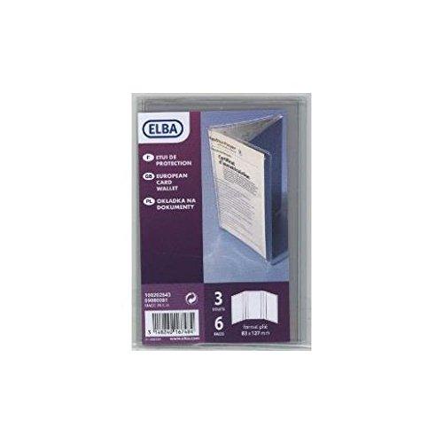 ELBA Etui de protection pour Carte grise Européenne 8x12,3 cm PVC Incolore