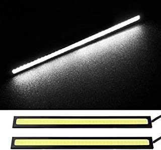 6W Xenon Slim COB LED DRL Daylight Driving Daytime Running Light Lamp For Car SUV Sedan Coupe Vehicle Waterproof Aluminum High Power 6000K (White)