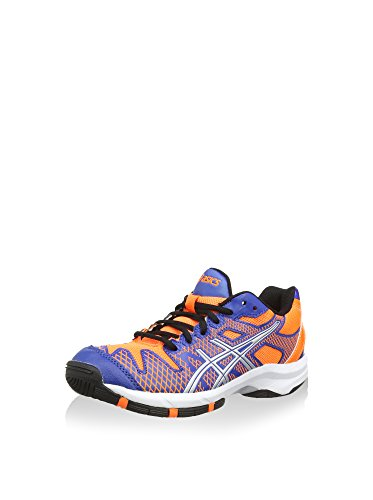 Asics Gel-Solution Speed 2 GS, Zapatillas de Tenis Unisex-Niño, 4230 Blue/Flash Orange/Silver, 6,5b