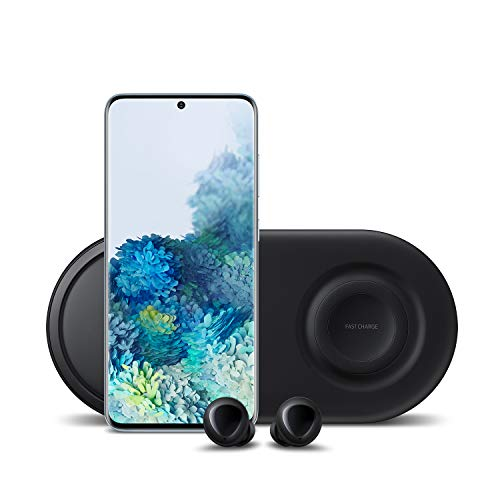 Samsung Galaxy S20 5G Factory Unlocked 128GB   New Android Cell Phone Bundle   US Version   Cloud Blue   Includes Samsung Galaxy Buds & Samsung Duo Wireless Charging Station