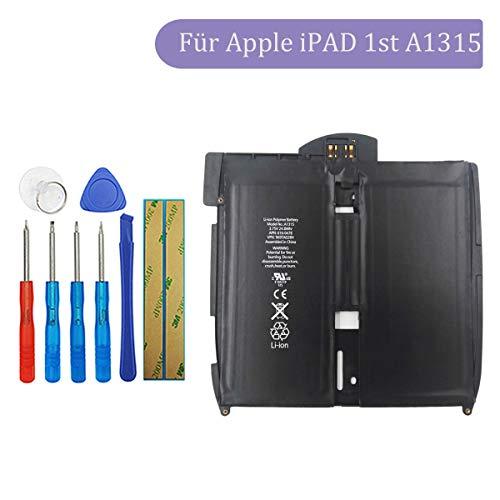 Tangzhi A1315 Ersatzakku Kompatibel mit Apple iPAD, iPAD 1st, iPAD A1219, iPAD A1315, iPAD A1337 616-0448, 616-0478, 969TA028H