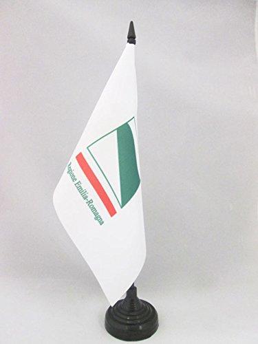 AZ FLAG Bandera de Mesa de Emilia-ROMAÑA 21x14cm - BANDERINA de DESPACHO DE Emilia-Romagna - Italia 14 x 21 cm