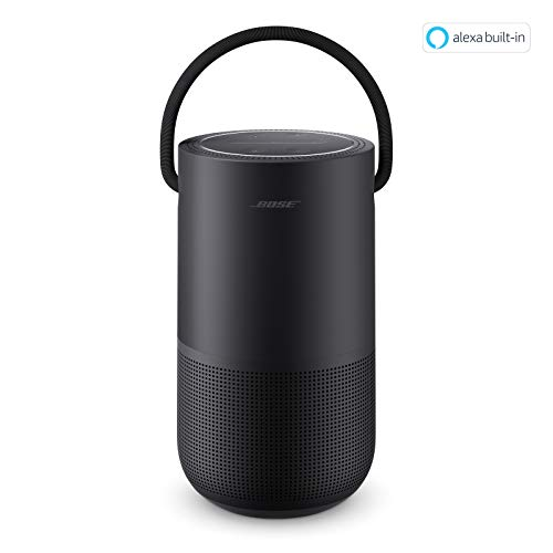 Bose Portable Smart Speaker - Altavoz portátil con control de voz Alexa integrado, Color Negro