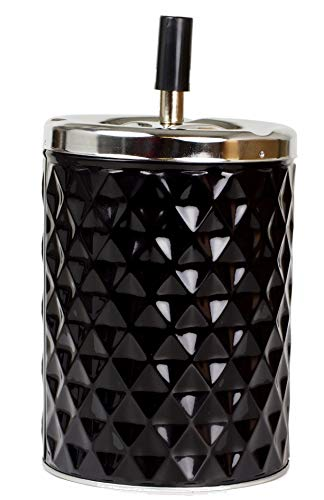 Lifestyle-Ambiente XXL Drehascher Aschenbecher Diamant schwarz inkl Tastingbogen