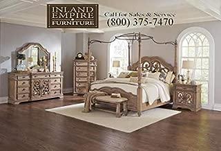 Inland Empire Furniture Ilana Eastern King Canopy Bedroom Set