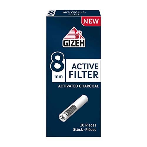 Gizeh Active - Filtro ai Carboni Attivi, 8 mm, 10 Pezzi