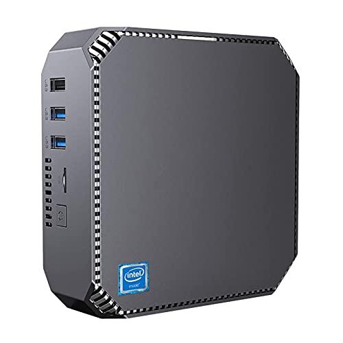 NiPoGi Mini PC, 8GB RAM 128 ROM Intel Celeron J3455, Windows 10 Pro Ordenadores de sobremesa, 2.4G y 5G WiFi, 4K HD, BT 4.2,Gigabit Ethernet,Micro PC para Oficina en casa, Negocios, HTCP