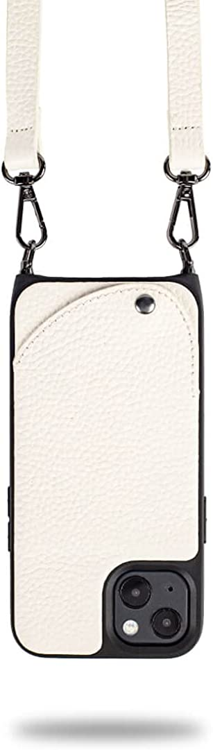 Noémie Napa Crossbody Case, Compatible with iPhone 13 - Genuine Leather, Removable Strap, 3 Credit Card Holder