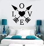 Corazón De Amor Flechas Etiqueta De La Pared Vinilo Pareja Romántica Amor Dormitorio Habitación Infantil Decoración Del Hogar Tatuajes De Pared Extraíble Wallpeper 92X95Cm
