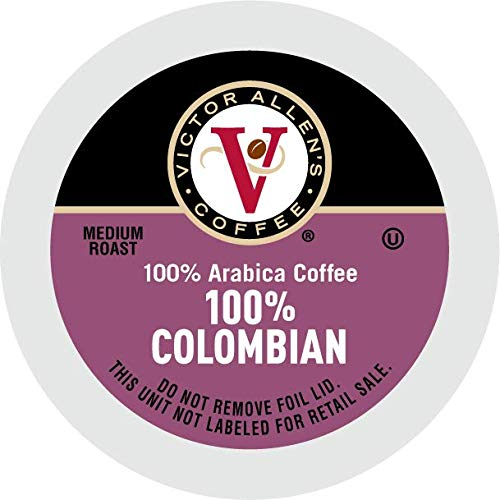 Victor Allen's Coffee K Cups, 100% Colombian Single Serve Medium Roast Coffee, 80 Count, Keurig 2.0 Brewer Compatible
