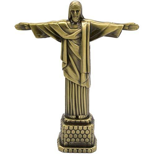 1 St Metaal Jezus Standbeeld Christus De Verlosser Standbeeld Katholieke Gift Woondecoratie