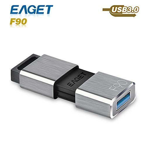 USB Flash Drive, Eaget F90 USB 3.0 High Speed Capless USB Drive Water Resistant Pen Drive Shock Resistant Thumb Drive (64GB)