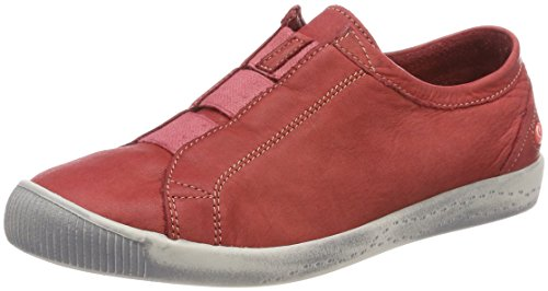 Softinos Damen INI453SOF Washed Slipper, Rot (Red), 41 EU